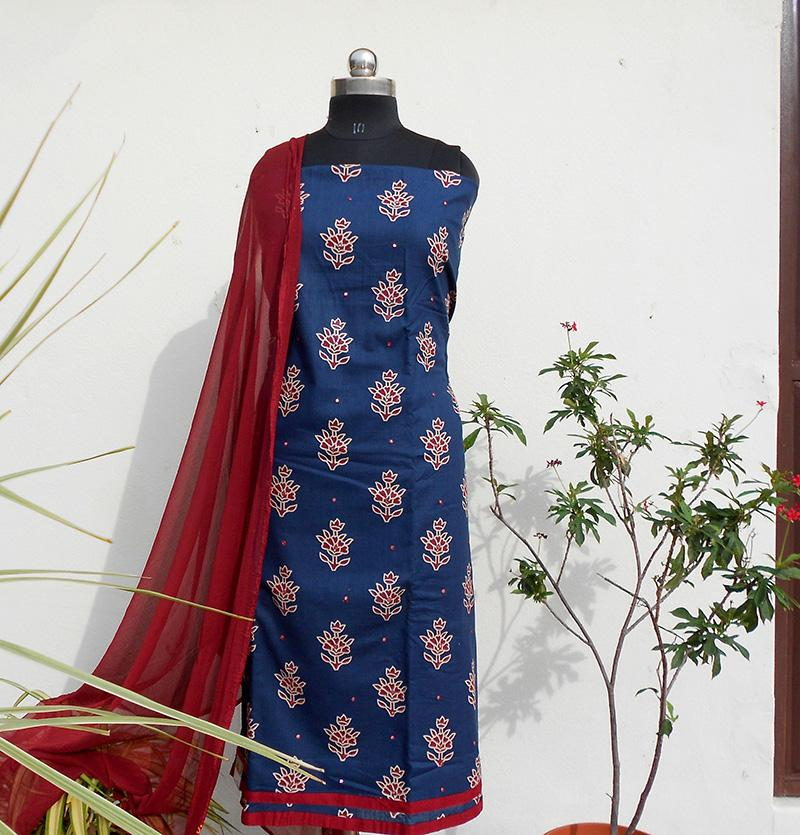 Ruhi deep blue salwar set - STUDIO PEHEL