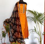 Load image into Gallery viewer, Ruhi golden yellow/black salwar set - STUDIO PEHEL