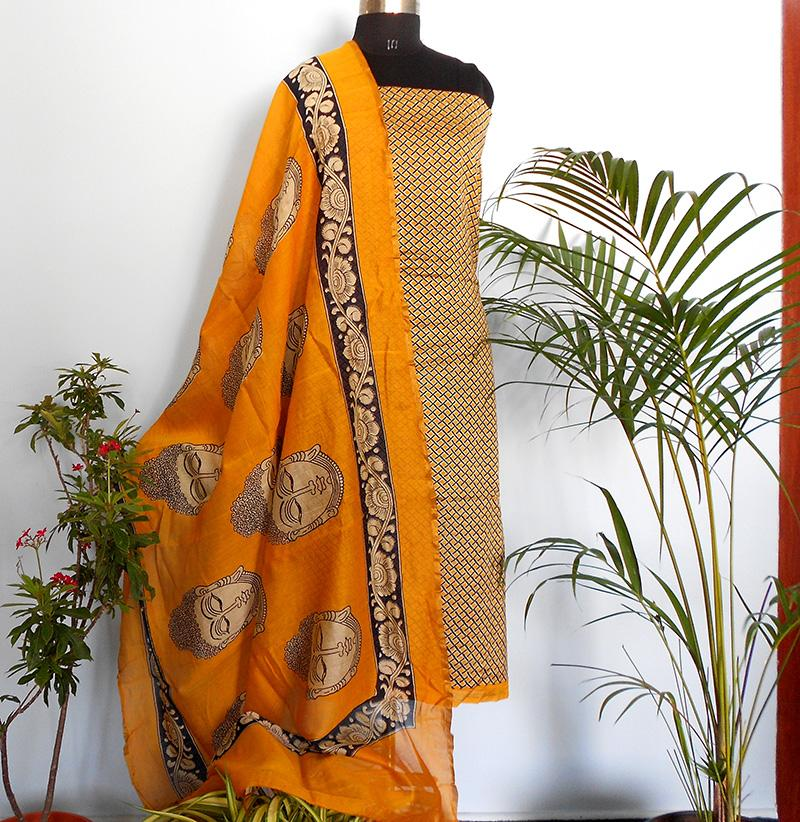 Ruhi yellow geometry salwar set - STUDIO PEHEL