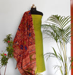 Load image into Gallery viewer, Ruhi green kalamakari salwar set - STUDIO PEHEL