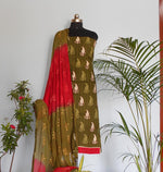 Load image into Gallery viewer, Ruhi mehendi green salwar set - STUDIO PEHEL