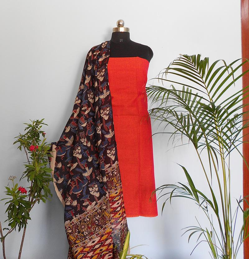 Ruhi rush red kalamakari salwar set - STUDIO PEHEL