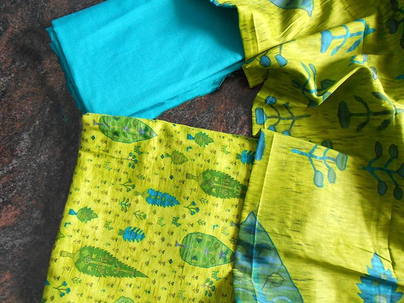 Ruhi fresh greenish blue salwar set - STUDIO PEHEL