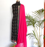 Load image into Gallery viewer, Ruhi Grey/Black salwar set - STUDIO PEHEL
