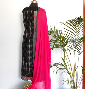 Ruhi Grey/Black salwar set - STUDIO PEHEL