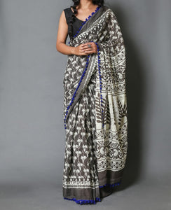 Naira soft cotton sarees- grey