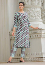 Load image into Gallery viewer, Cotton slub printed Kurti