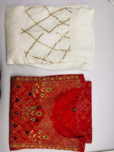 Bandhej kurti and sharara with heavy gota and handwork - STUDIO PEHEL