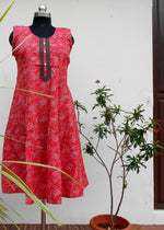 Load image into Gallery viewer, Aastha Rosy red printed cotton kurti