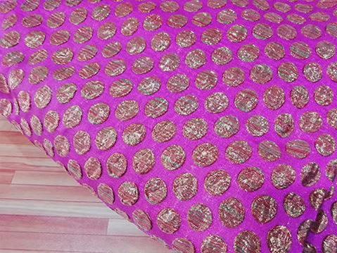 Plum pink /Copper embossed jaquard fabric - STUDIO PEHEL