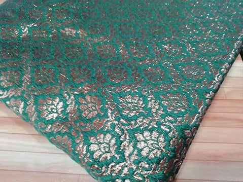 Dark green /copper jaquard fabric - STUDIO PEHEL