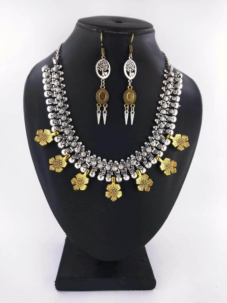 Surya floral gold necklace