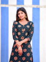 Load image into Gallery viewer, Darkblue Amazing hand work kurti with Sharara