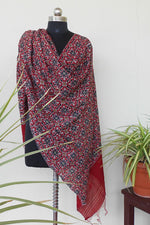 Load image into Gallery viewer, Paithani printed dyed dupatta red - STUDIO PEHEL