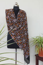 Load image into Gallery viewer, Beautiful akjrak printed dyed dupatta black - STUDIO PEHEL