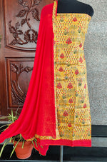 Load image into Gallery viewer, Mathuri yellow/red double top Salwar set - STUDIO PEHEL