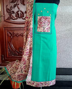 Load image into Gallery viewer, Teal Majenta salwar set - STUDIO PEHEL