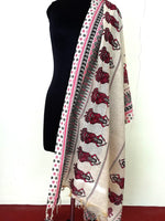 Load image into Gallery viewer, Cotton jute Handpainted Dupatta - STUDIO PEHEL