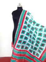 Load image into Gallery viewer, Chanderi block printed Dupatta - STUDIO PEHEL