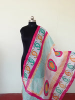 Load image into Gallery viewer, Chanderi Handpainted Dupatta - STUDIO PEHEL