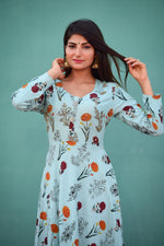 Load image into Gallery viewer, Floral kurti with adda work - STUDIO PEHEL