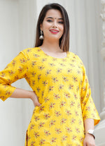 Load image into Gallery viewer, Yellow Amazing hand work kurti with Sharara