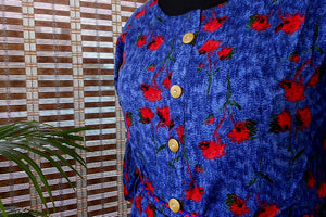Anya denim blue pleated kurti