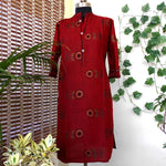 Load image into Gallery viewer, Anya maroon straight southcotton kurti
