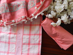 Load image into Gallery viewer, Checkered soft cotton salwarset-Pink - STUDIO PEHEL