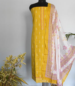 Ikkat cotton arrow print salwar- Lime yellow - STUDIO PEHEL