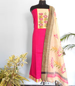 Load image into Gallery viewer, South cotton Handpainted salwar-Pink - STUDIO PEHEL