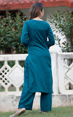 Load image into Gallery viewer, Teal Beautiful kurti with pant