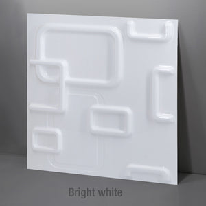 "12""x12"" 3D PVC Wall Tile Panels Europe Style, Water Proof - Profinishes"