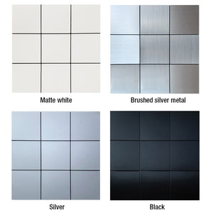 "12""x12"" 3D Metal Wall Tiles - Profinishes"