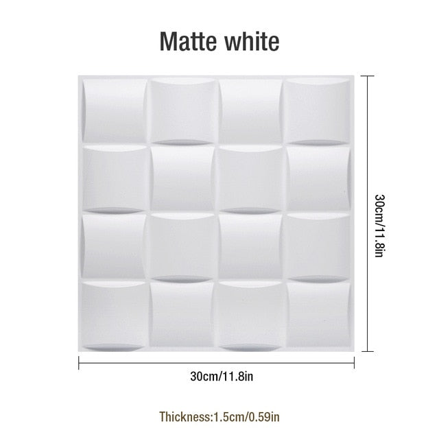 "12""x12""x12"" 3D PVC Wall Tiles Pastoral Style, Water proof - Profinishes"
