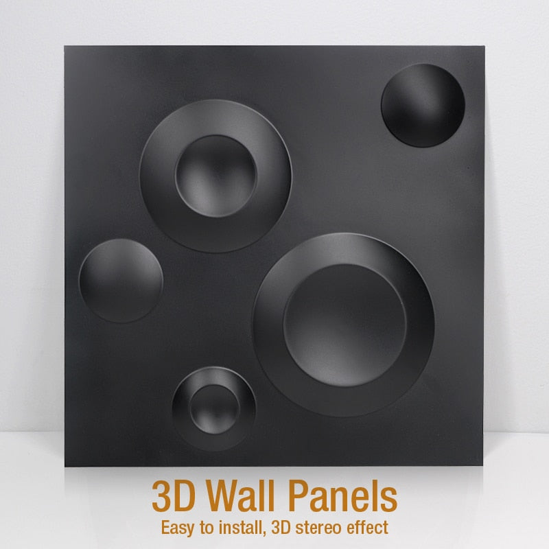 "12""x12"" 3D PVC Wall Tiles Circles Style - Profinishes"