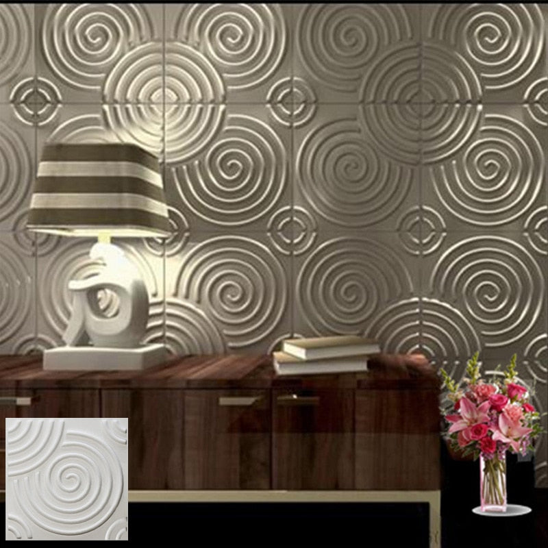 "12""x12"" 3D PVC Wall Tiles Swirl Style - Profinishes"