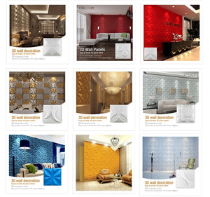 12 Sq Inch 3D Star Moon Wall Tiles - Profinishes