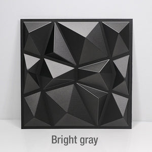 "12pcs 19.6""x19.6"" 3D Triangle Style Wall Tiles - Profinishes"