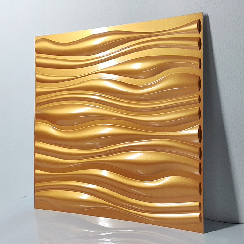 "20""x20"" 3D PVC Wall Tiles Wave Style (12 PCS) - Profinishes"