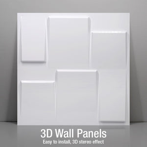 "12""x12"" 3D PVC Wall Tiles Art Deco Style, Water Proof - Profinishes"