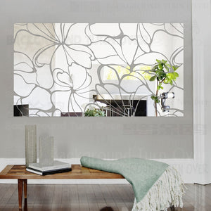 3D Modern Mirror Wall Panel Rectangle - Profinishes