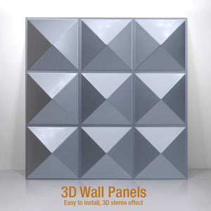 "12""x12"" 3D PVC Wall Tile Panel Pyramid Style - Profinishes"