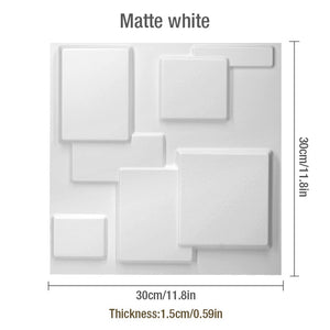 "12'X12"" 3D PVC Wall Tiles Squares Style, Waterproof - Profinishes"