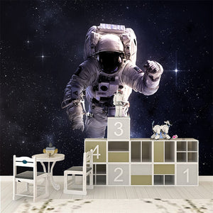 Custom any size 3D wall mural wallpapers Modern fashion Astronaut 3D Perspective Wall Sticker YBZ094 - Profinishes