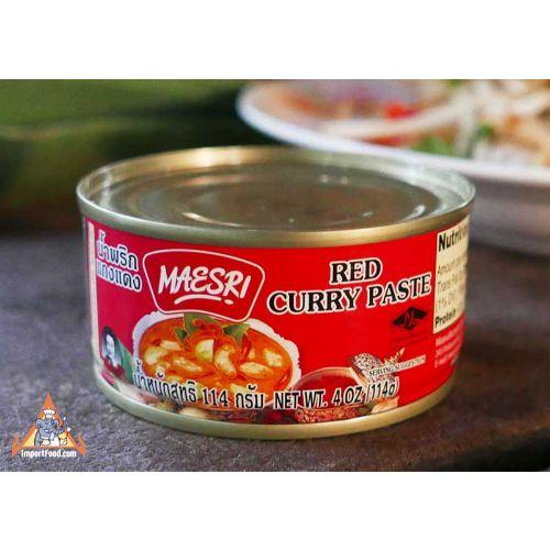 Maesri Red Curry Paste - 4 oz