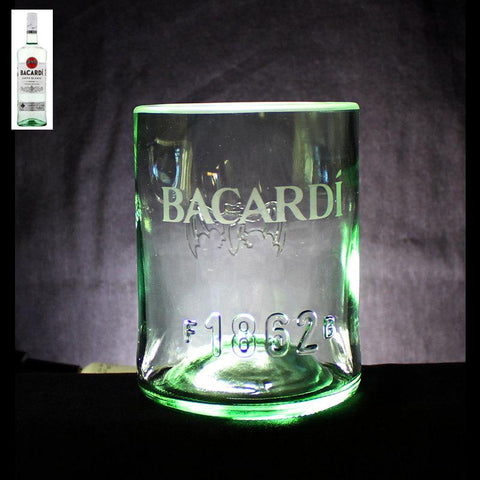 Bacardi Rum Premium Rocks Glass - Custom Engraved & Personalized Rocks glass Liquorware Gifts