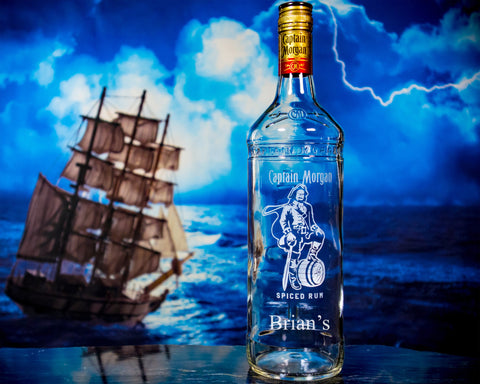 Captain Morgan Rum Custom Engraved & Personalized Bottle Decanter Liquorware Gifts