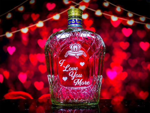Crown Royal Whisky Valentine's Day Engraved & Personalized Bottle Decanter Decanter Liquorware Gifts