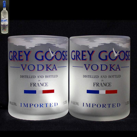 Grey Goose Premium Rocks Glasses (Set of 2) Rocks glass Liquorware Gifts